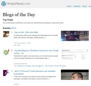 Dagens blog på wordpress i sverige
