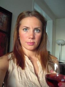 Tog ett litet glas före jag åkte ner :-)
