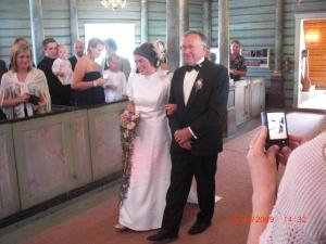 Bruden Tine med sin far
