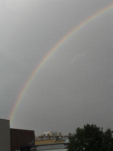 Sen kom spöregnet & en jättefin regnbåge