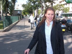 Precis när vi kommit fram till Paris city,varmt som på en sommardag