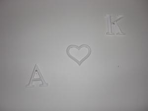 Dessa fina bokstäver hänger nu i vår hall :-)