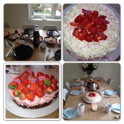 Jordgubbsmousse tårta